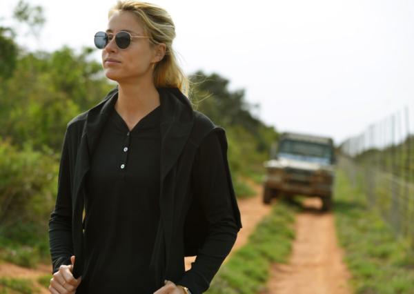 Longsleeve merino wool shirt for safari