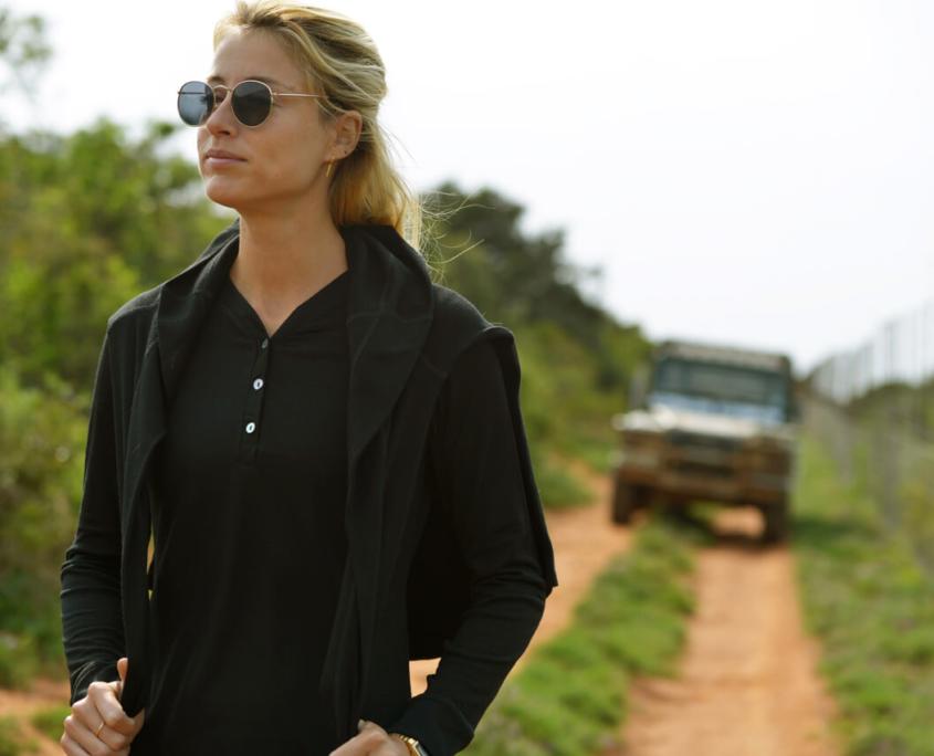 Long sleeve Core Merino shirt for safari