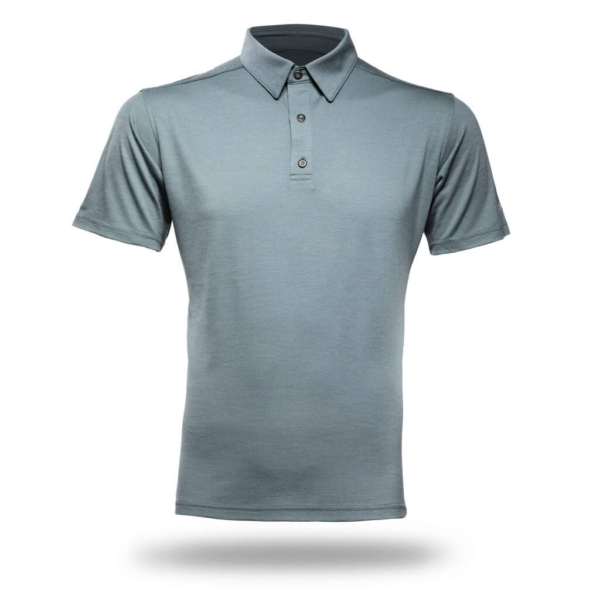 Polo Shirt Men - Core Merino Wool - Colour Moss