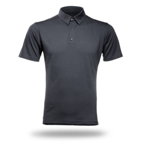 Polo Shirt Men - Core Merino Wool - Colour Asphalt Grey