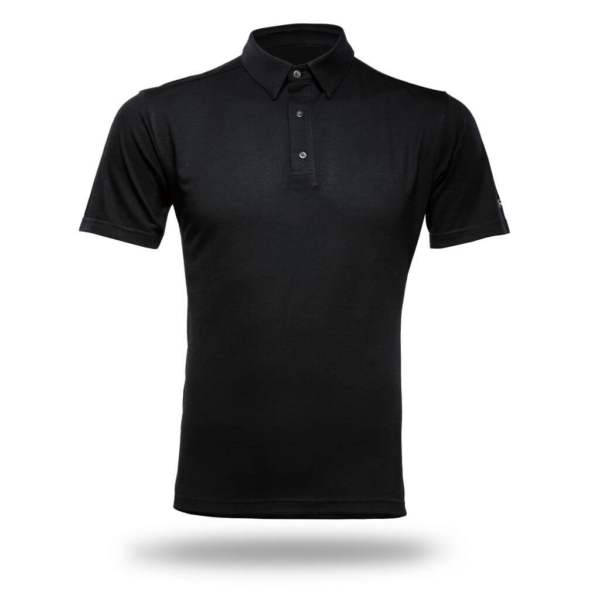 Polo Shirt Men - Core Merino Wool - Colour Black