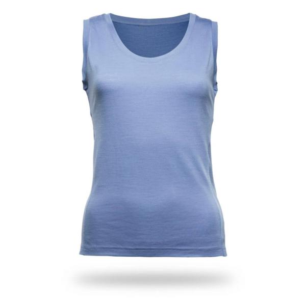 Sleeveless Shirt Women - Core Merino Wool - Colour light blue denim