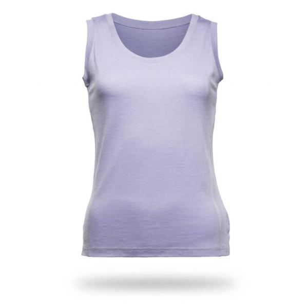 Sleeveless Shirt Women - Core Merino Wool - Colour lilac