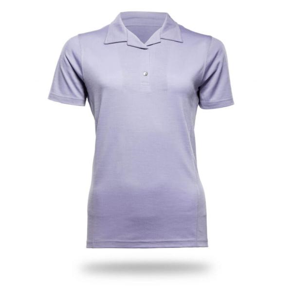 Polo Shirt Women - Core Merino Wool - Colour Lilac