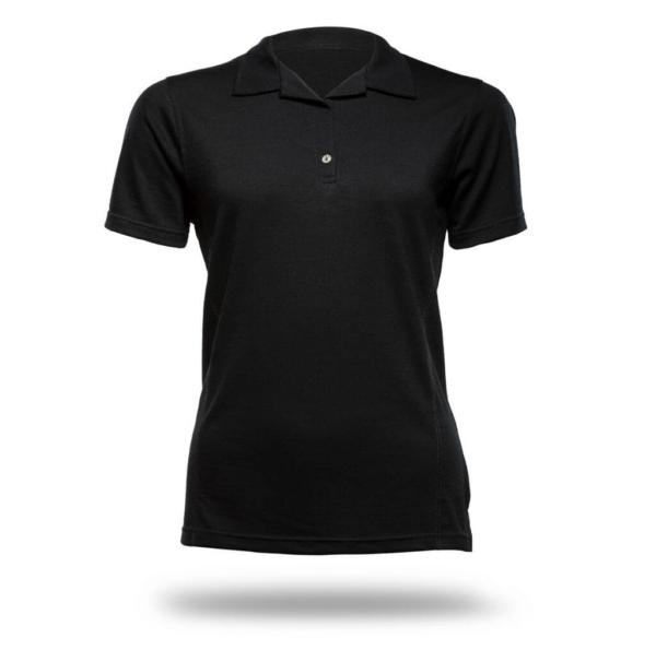 Polo Shirt Women - Core Merino Wool - Colour Black