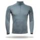 Long Sleeve Raglan Zip Neck Panelled T-Shirt Men - Core Merino Wool - Colour Moss Green