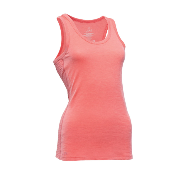Sleeveless Tank - Core Merino Wool - Colour Coral