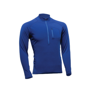 1/2 Zip Long Sleeve Shirt - Core Merino Wool - Colour blue