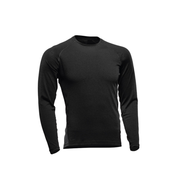 Long Sleeve Crew T-Shirt Men - Core Merino - Colour Black