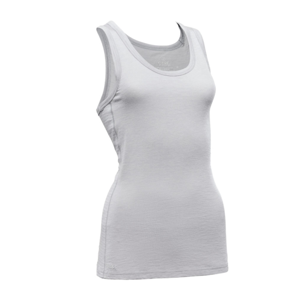 Sleeveless Tank - Core Merino Wool - Colour light grey