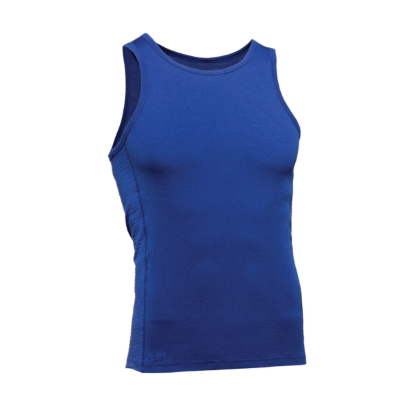 Sleeveless Tank Men - Core Merino Wool - Colour blue