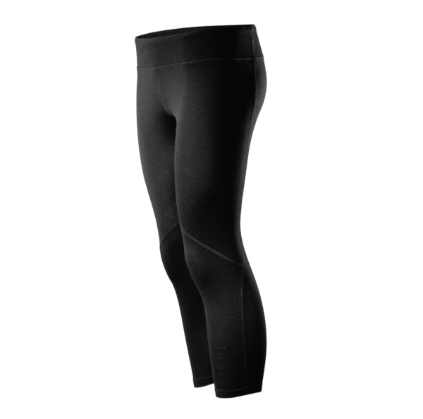 Core Merino Wool 3/4 Yoga Pants - colour black