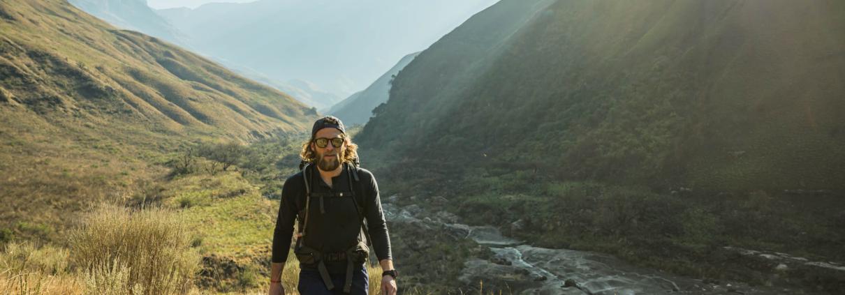 Hiking in South Africa in Merino Wool